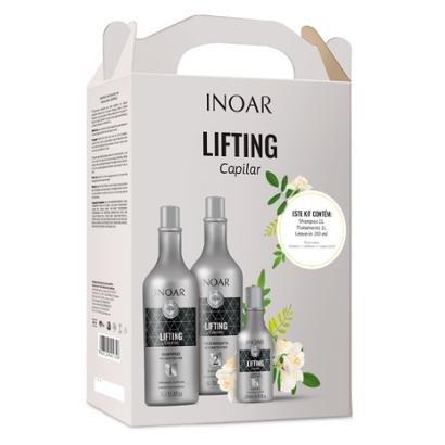 Kit Inoar Lifting Capilar 1 Shampoo 1L + 1 Tratamento 1L + 1 Leave-In 250ml