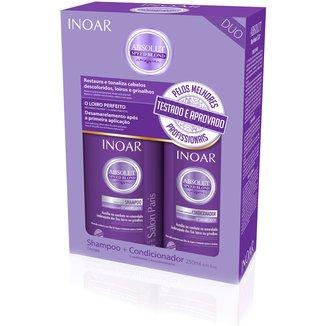 Kit Inoar Speed Blond Duo Shampoo 250ml + Condicionador 250ml
