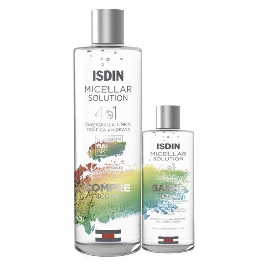 Kit Isdin Solução Micellar Água Micelar 400ml + Água Micellar 100ml - Incolor