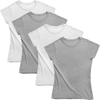 Kit Joss 4 Camisetas Básicas Feminino