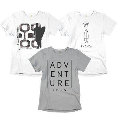 Kit Joss Surf 3 Camisetas Masculino