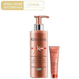 Kit Kérastase Discipline Curl Shampoo 400ml + Leave-in 150ml