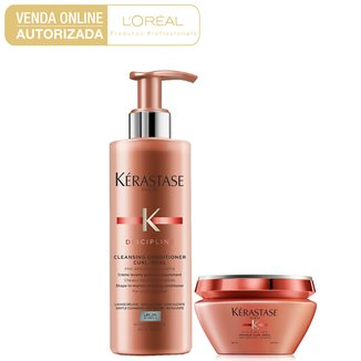 Kit Kérastase Discipline Curl Shampoo 400ml + Máscara 200ml