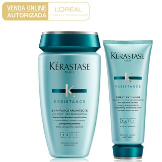 Kit Kérastase Resistance Shampoo 250ml + Condicionador 200ml