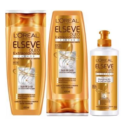 Kit L Oréal Paris Elseve Óleo 1 Shampoo 400ml 1 Condicionador 400ml 1 Creme 250ml