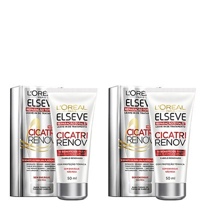 Kit Leave In Reparador L'oréal Paris Elseve Cicatri Renov 50Ml Com 2 Unidades-Feminino