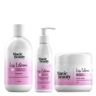 Kit Liss Extremesh Magic Beauty -  Shampoo + Máscara + Leave-in Kit