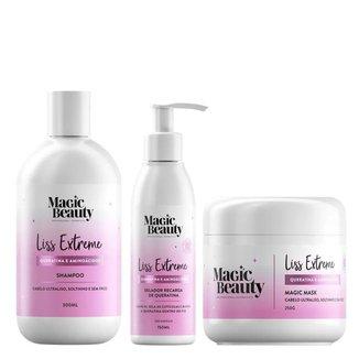 Kit Liss Extremesh Magic Beauty -  Shampoo + Máscara + Leave-in Kit