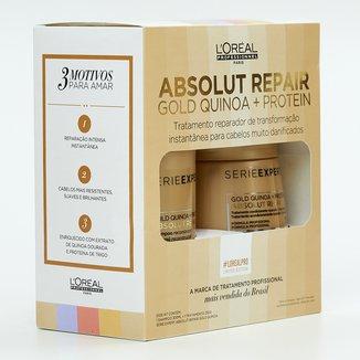 Kit L'Oréal Professionnel Shampoo+Máscara Absolut Repair Gold Quinoa