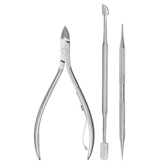 Kit Manicure Enox  - Preto+Prata