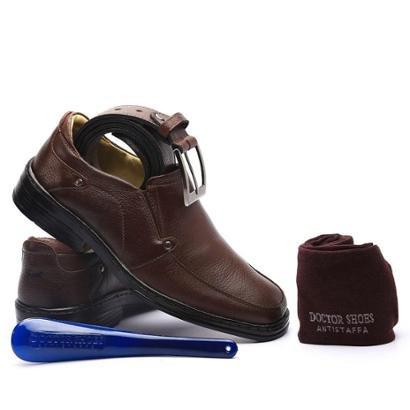 Kit Masculino Sapato+Cinto+Meia+Calçadeira Doctor Shoes