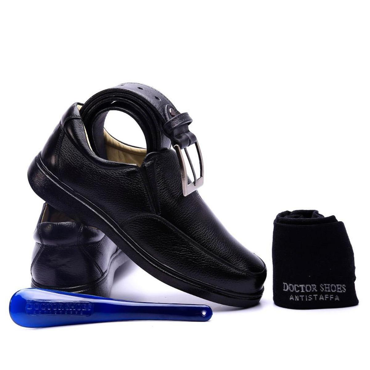 Preto Kit Calçadeira Kit Shoes Masculino Masculino Cinto Meia Sapato Doctor zBqp7wrzS