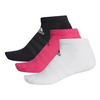 Kit Meia Adidas Soquete Cush Low c/ 3 pares