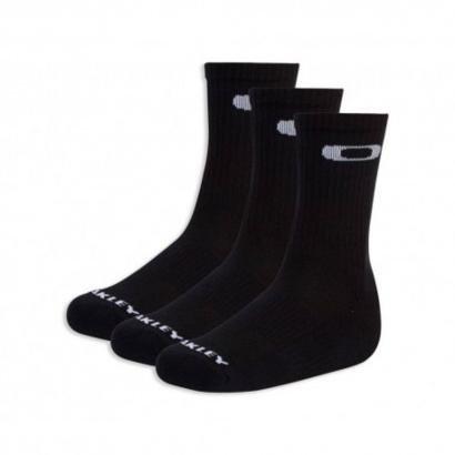 Kit Meia Oakley Crew Sock 2.0 3 pares Masculino - Masculino
