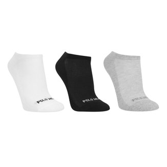 Kit Meia Polo Wear Cano Invisível Masculina 3 Pares