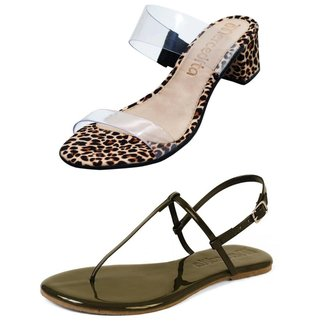 Kit Mercedita Shoes Tamanco Salto Bloco e Rasteira Casual Verniz Fivela