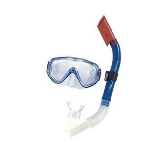 Kit mergulho Snorkel + Máscara Blue Bestway Azul