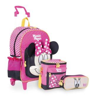 Kit Minnie 19Y Infantil Sestini - Mochilete + Lancheira + Estojo