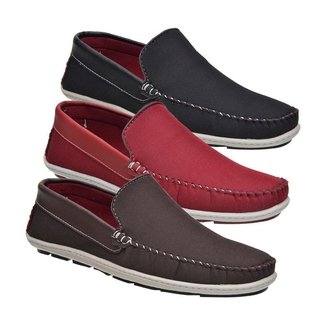 Kit  Mocassim Drive 3 Pares Masculino
