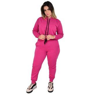 Kit Moletom Cropped + Calça Comfy  Feminina