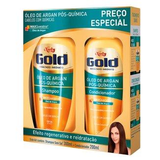 Kit Niely Gold Óleo de Argan Pós Química Kit - Shampoo + Condicionador
