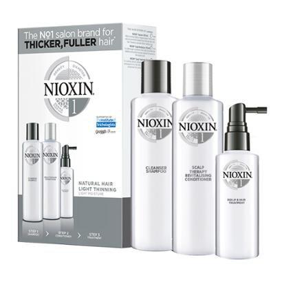 Kit Nioxin Trial Kit Sistema 1 Shampoo 150ml + Condicionador 150ml + Leave-in 50ml