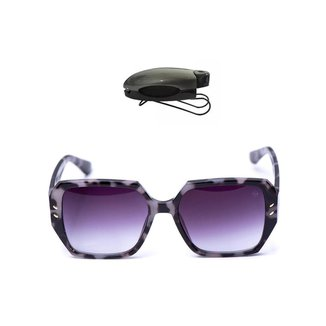 Kit Óculos de Sol Redondo + Porta Óculos Veicular Feminino