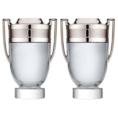 Kit Paco Rabanne Perfume Masculino Invictus EDT 100ml + Perfume Masculino Invictus EDT 100ml - Masculino-Incolor
