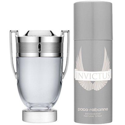 Kit Paco Rabanne Perfume Masculino Invictus EDT 150ml + Desodorante Invictus 150ml - Masculino-Incolor