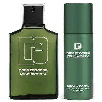 Kit Paco Rabanne Perfume Pour Homme Masculino EDT 100ml + Desodorante Pour Homme Masculino 150ml