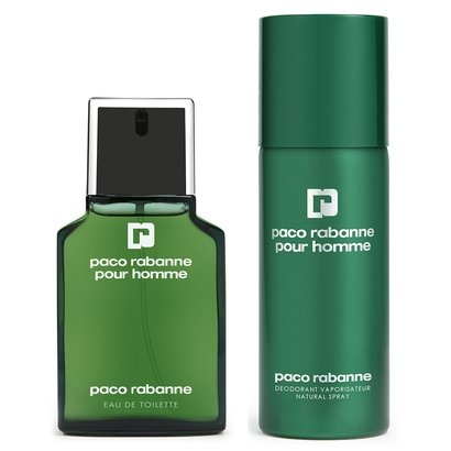 Kit Paco Rabanne Perfume Pour Homme Masculino EDT 30ml + Desodorante Pour Homme Masculino 150ml - Masculino-Incolor