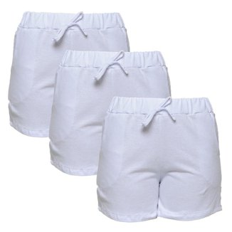 Kit Part.B 3 Shorts Style Feminino