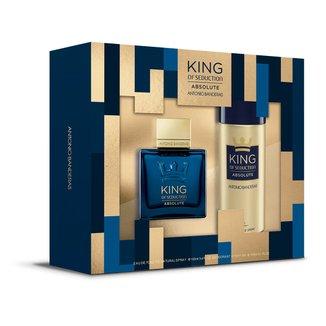 Kit Perfume Antonio Banderas King of Seduction Absolute EDT Masculino + Desodorante Spray