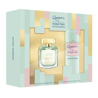 Kit Perfume Antonio Banderas Queen Of Seduction Eau de Toilette Feminino  80ml + Desodorante 150ml