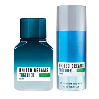 Kit Perfume Benetton Together 100ml + Desodorante 150ml