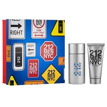 Kit Perfume Carolina Herrera 212 Men Eau de Toilette Masculino 100ml + Loção Pós Barba 100ml - Masculino-Incolor