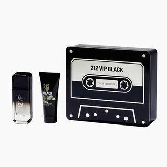 Kit Perfume Carolina Herrera 212 Vip Black Eau de Parfum Masculino 100ml + Gel de Banho 100ml