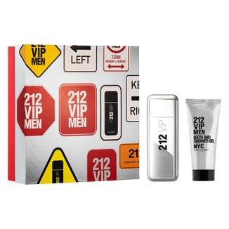 Kit Perfume Carolina Herrera 212 Vip Men Eau de Toilette Masculino 100ml + Gel de Banho 100ml