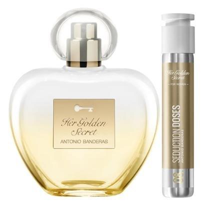 Kit Perfume Feminino 80ml EDT + Perfume Feminino Dose 30ml EDT Antonio Banderas Her Golden Secret