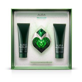 Kit Perfume Feminino Aura Thierry Mugler EDP 30ml + Body Lotion 50ml + Gel de Banho 50ml