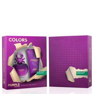 Kit Perfume Feminino Colors Purple Benetton Eau de Toilette 80ml + Body Lotion 75ml