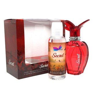 Kit Perfume Feminino Delikad Butterfly Secret + Óleo de Banho 120ml