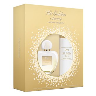 Kit Perfume Feminino Her Golden Secret Antonio Banderas EDT 80ml + Body Lotion 75ml