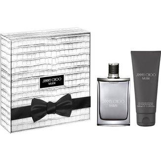 Kit Perfume Feminino Jimmy Choo Man 50ml + Gel de Banho 100ml