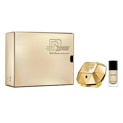Kit Perfume Feminino Lady Million Paco Rabanne EDP 50ml + Esmalte - Feminino-Incolor