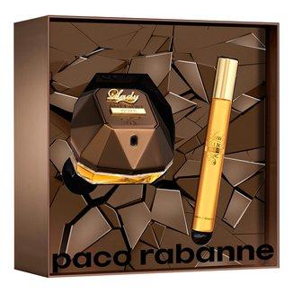 Kit Perfume Feminino Lady Million Privé Paco Rabanne Eau de Parfum 50ml + Miniatura 10ml