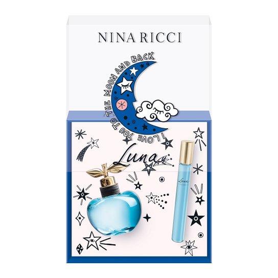 Kit Perfume Feminino Luna Nina Ricci Eau de Toilette 50ml + Roll On 10ml - Incolor
