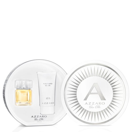 Kit Perfume Feminino Pour Elle Azzaro Eau de Parfum 50ml + Body Lotion 150ml - Incolor