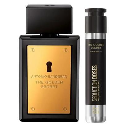 Kit Perfume Masculino 200ml EDT + Perfume Masculino Dose 30ml Antonio Banderas The Golden Secret