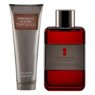 Kit Perfume Masculino Antonio Banderas The Secret Temptation EDT 100ml + Pós- Barba 75ml
